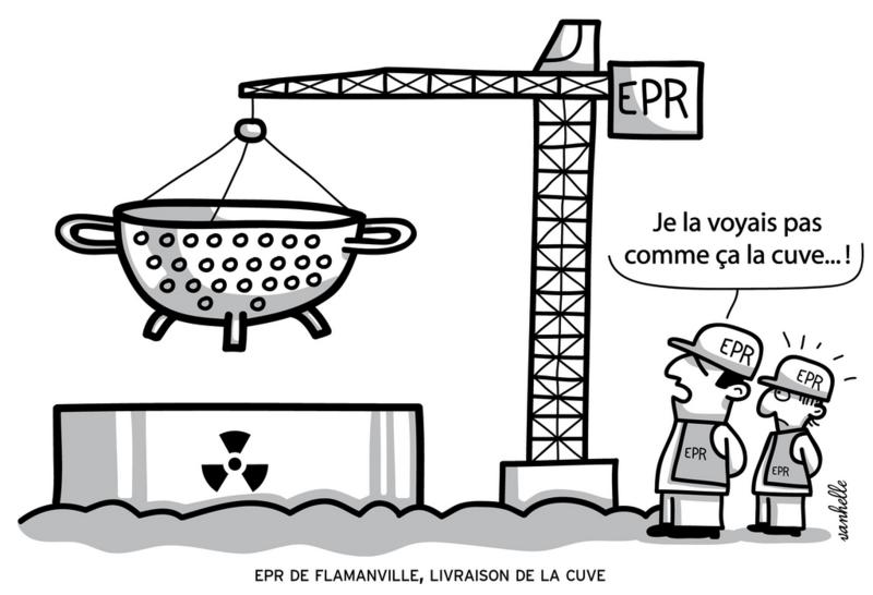 manifestation anti EPR Saint-Lô samedi 30 septembre 2017 dessin