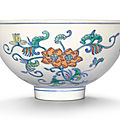 A doucai 'floral' bowl, daoguang seal mark and period (1821-1850)