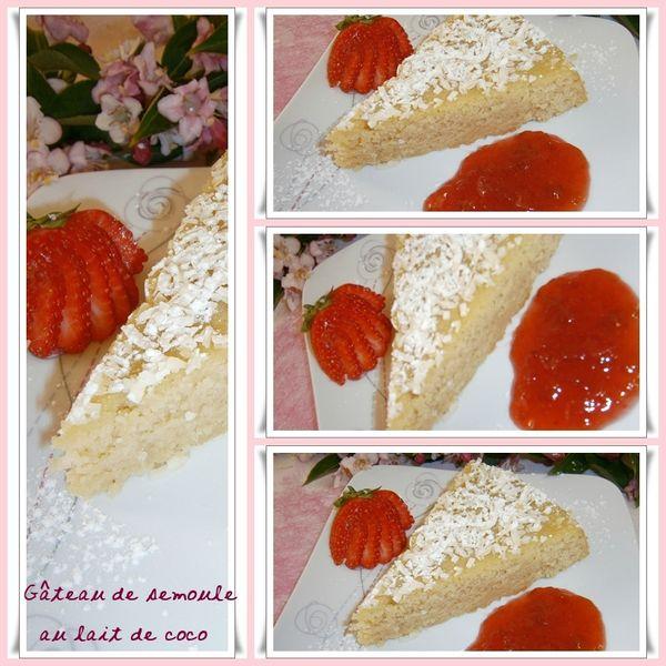 Gâteau de semoule fine au lait de coco - déco