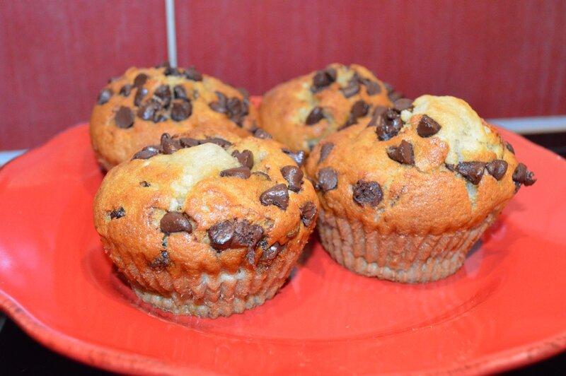 Muffins bananes pépites de chocolat (3)