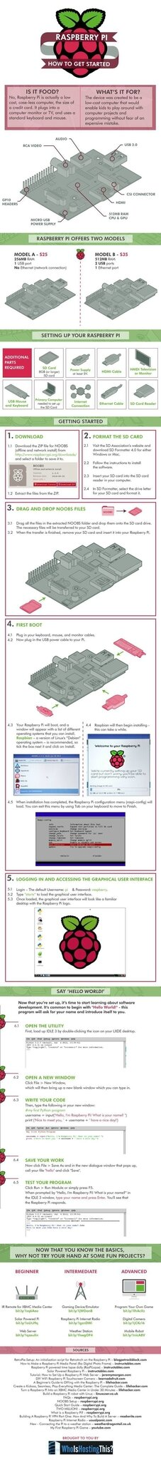 raspberry pi getting started