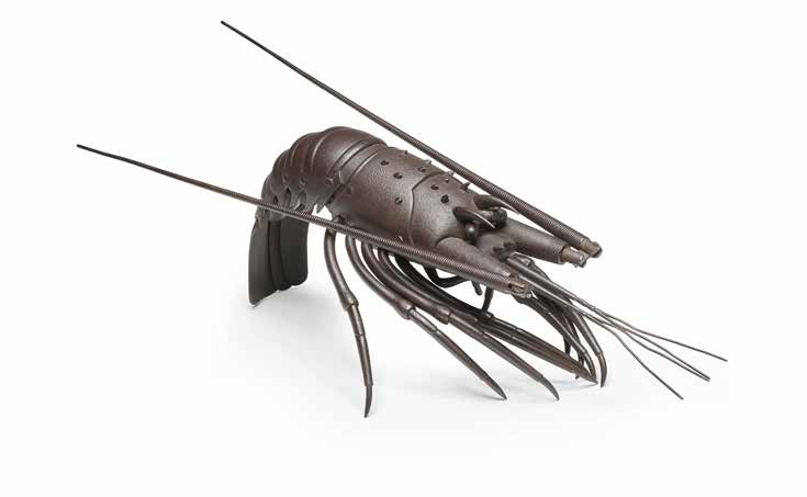 Myōchin Muneyoshi, An Articulated Iron Model of a Spiny Lobster, Meiji era (1868–1912), late 19th–early 20th century