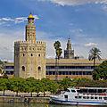 Séville : tour del oro - palacio de san telmo