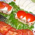 Tomate mozzarella revistée