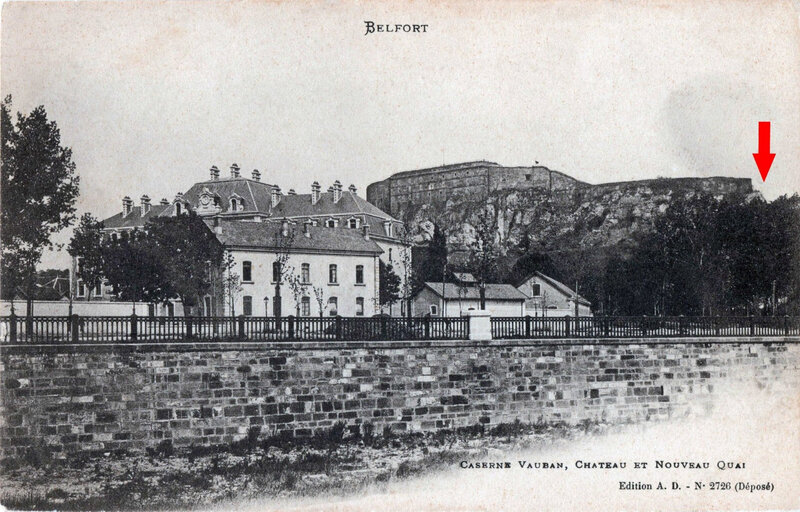 Belfort CPA Champ de foire 1901-03 Flèche
