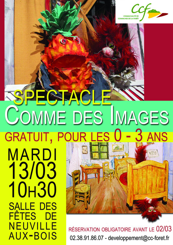 affiche spectacle mars 2018