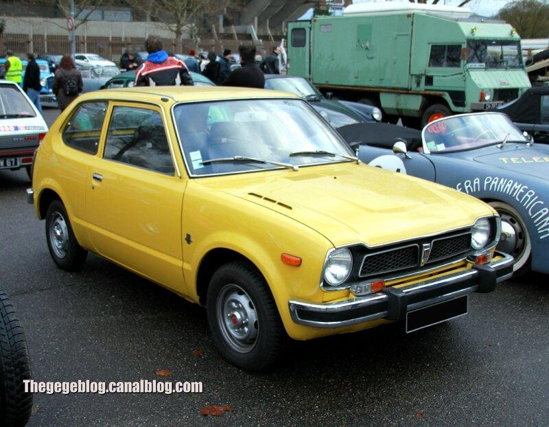 Honda civic série 1 automatique (1972-1979)(Retrorencard janvier 2014) 01