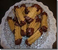 biscuits aux noisettes et chocolat a l'embout