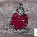 Motif : Peter Rabbit n°20, rose fuchsia