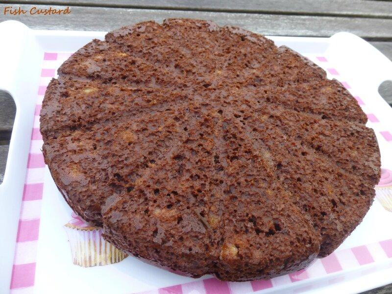 Gâteau cacao banane crème fraîche (1)