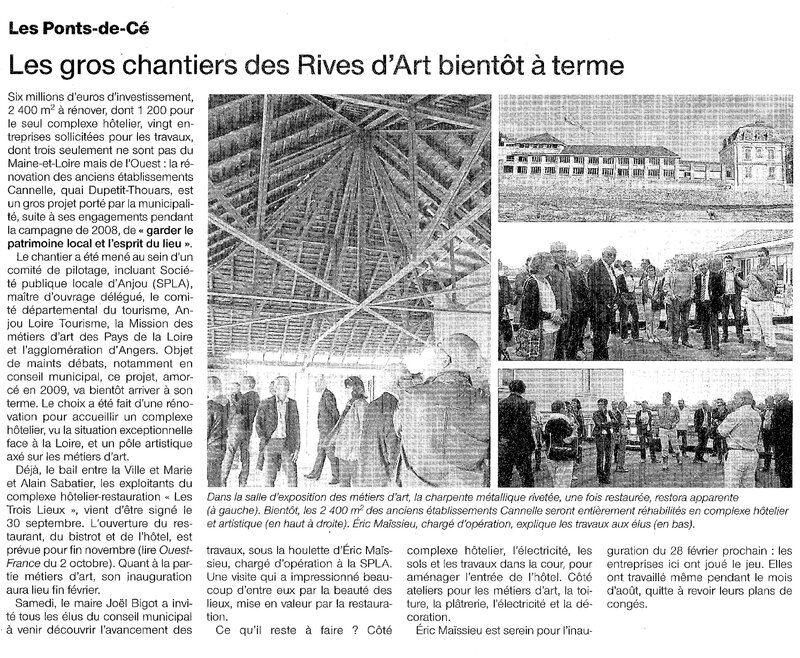 2014 10 06 Article Ouest France
