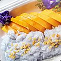 Mango sticky rice - dessert gourmand