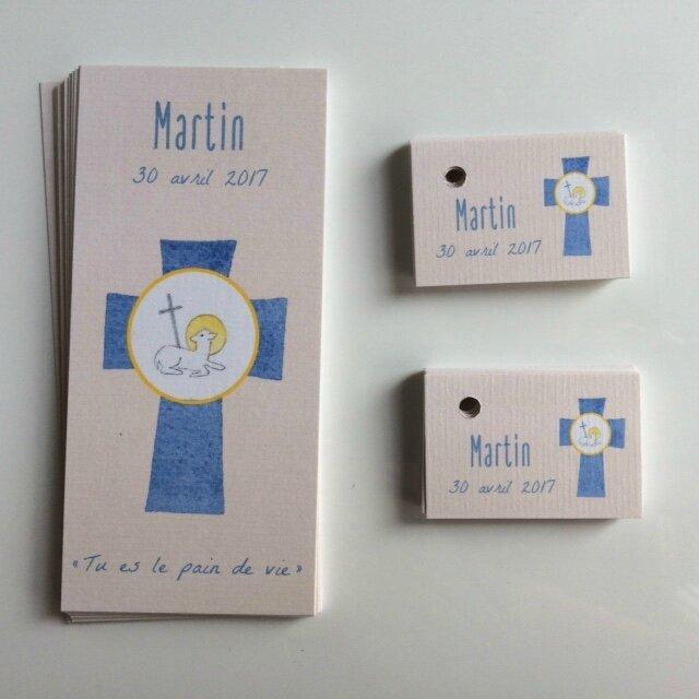 Signets de communion et étiquettes dragées martin 300417