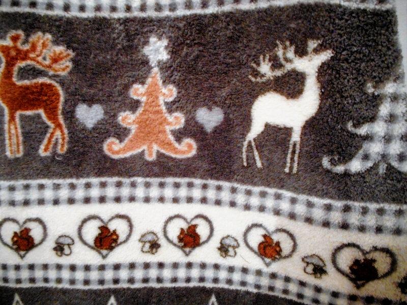 Robe polaire 12-18 mois sapin rennes étoiles gris zoom sapin