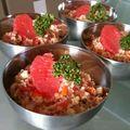 Taboulé de la mer au quinoa