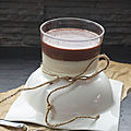 Panna cotta coco et sa crème chocolatée ... sans lactose