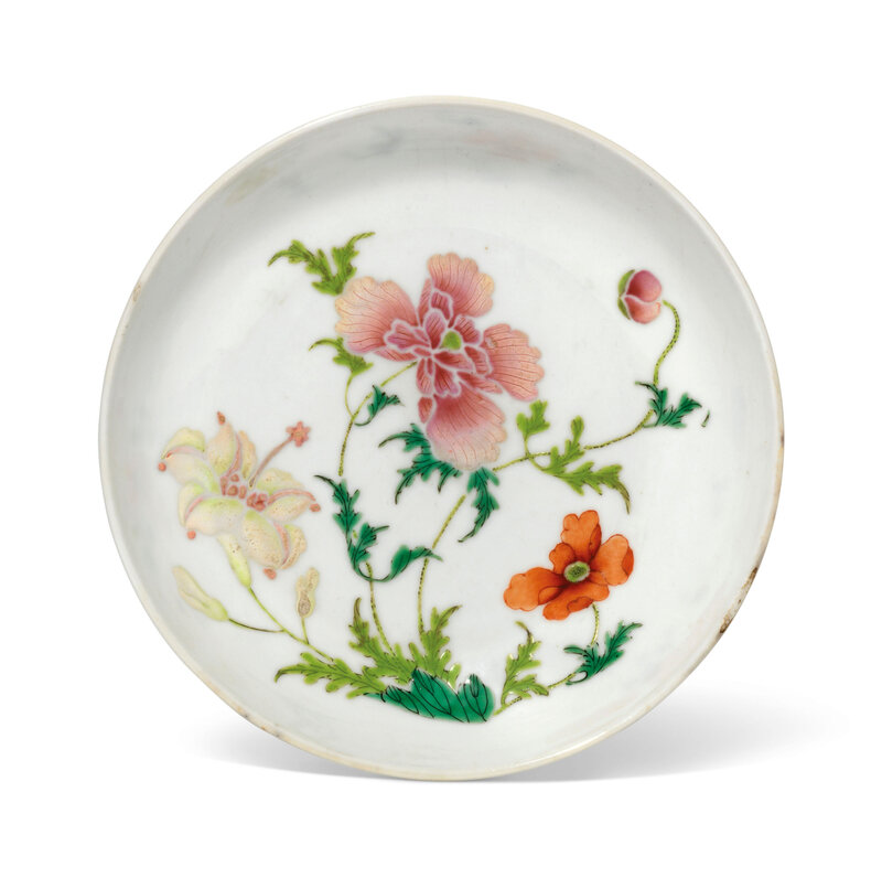 A famille rose 'boneless-style' dish, 18th century