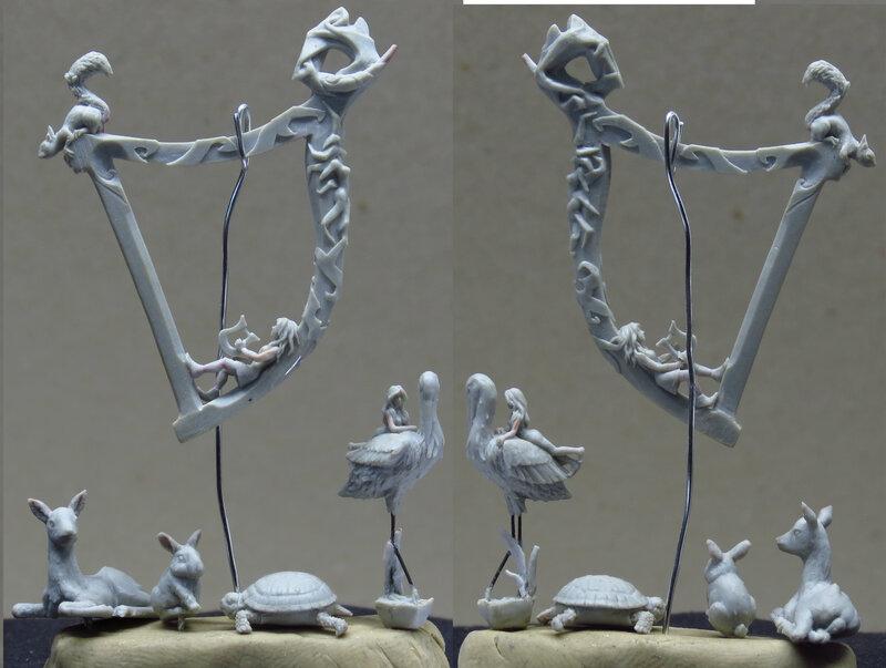 Beltane animals and harp