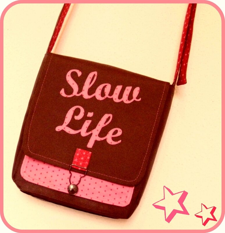 Mini besace Slow life Fév 14