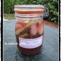 Conserves : petits oignons rouges aux raisins de corinthe