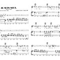 Je suis seul - johnny hallyday (partition - sheet music)