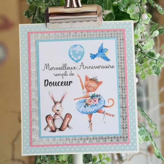vanillejolie carte douceur bleue