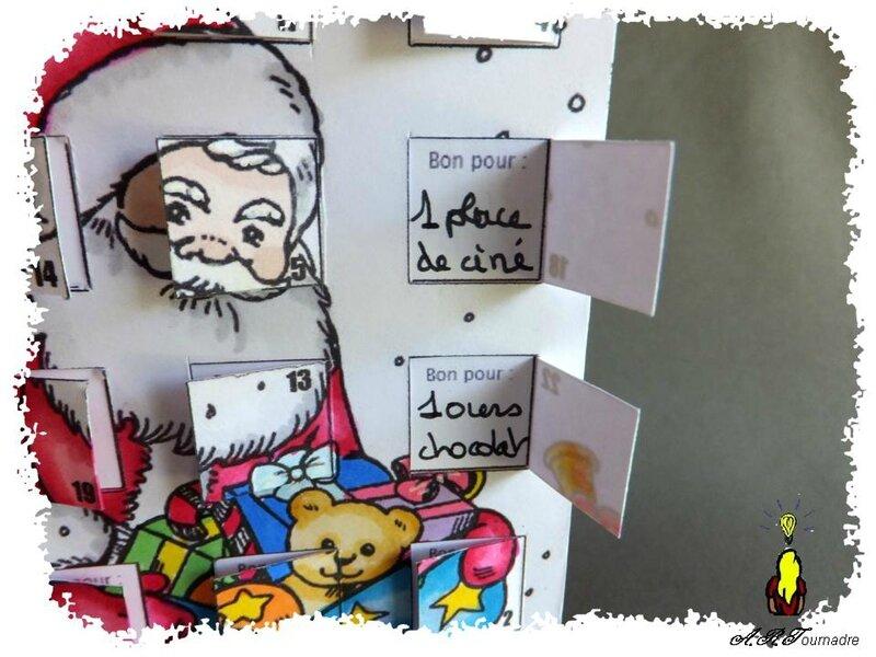ART 2013 10 calendrier Pere Noel coloriage 2