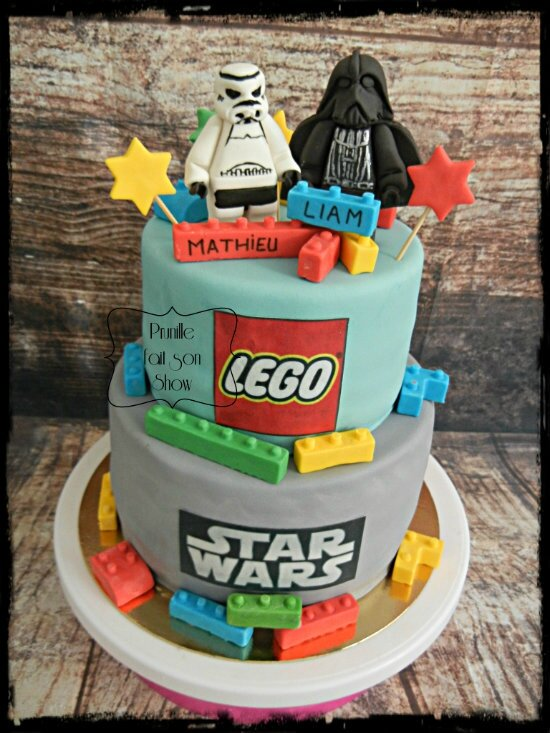 gateau lego star wars prunillefee 3