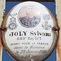 Joly sylvain (saint denis de jouhet) + 29/01/1916 lihons (80)
