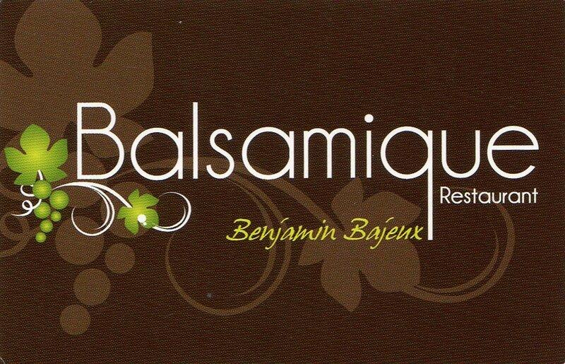 carte de visite restaurant le balsamique benjamin bajeux