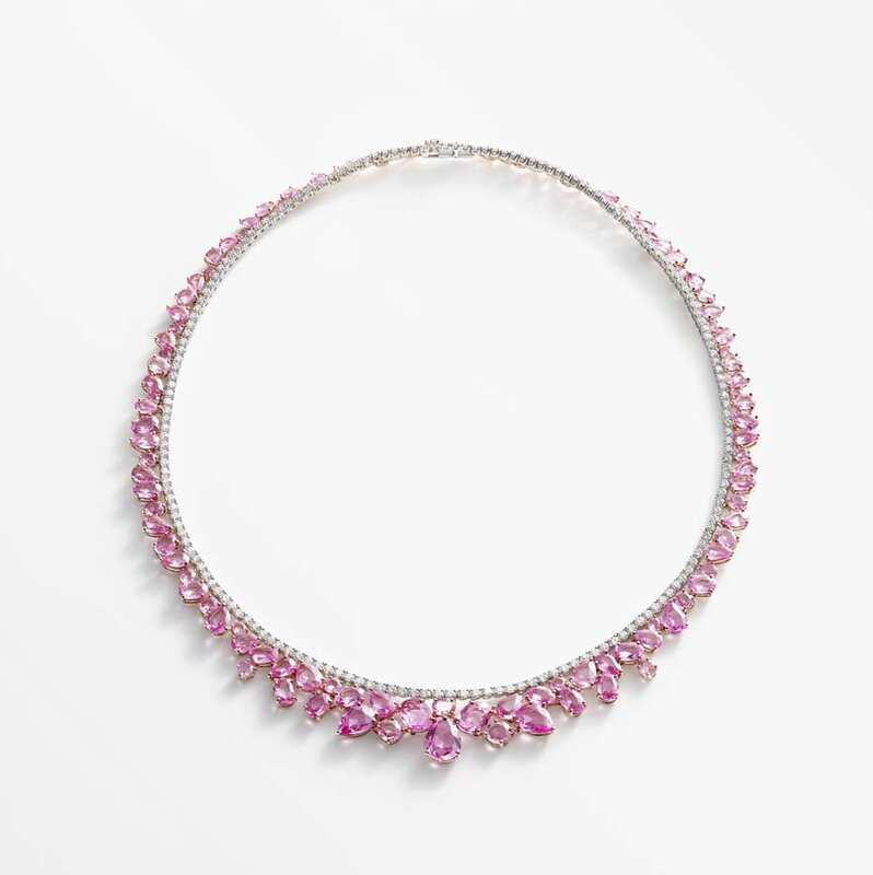 william and son_pink sapphires necklace