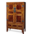 A huanghuali and huamu square-corner cabinet, fangjiaogui, qing dynasty, 18th century