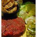 Tartare de bœuf et ses frites au four