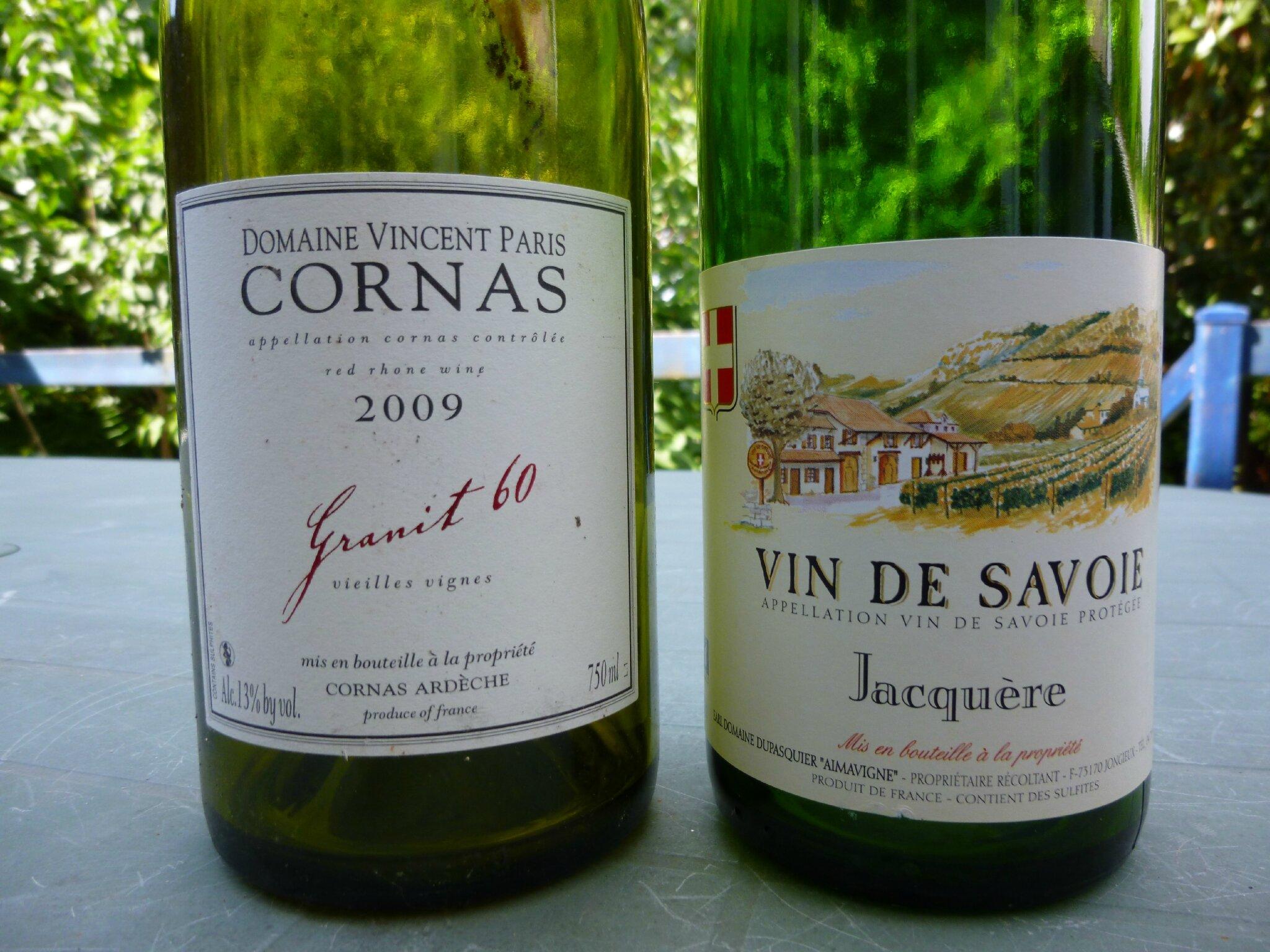 Savoie Domaine Dupasquier Jacqu 232 Re 2011 Et Cornas