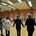 Première répétition de danse de l'époque xixème pour la fête