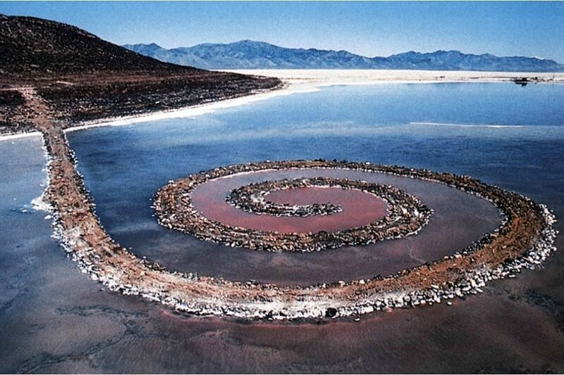 Robert Smithson Spiral Jetty 1970