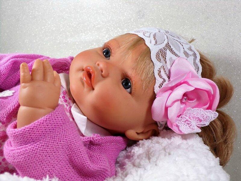 Bandeau cheveux bébé blanc