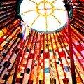 patchwork de lumière en couronne dans la yourte