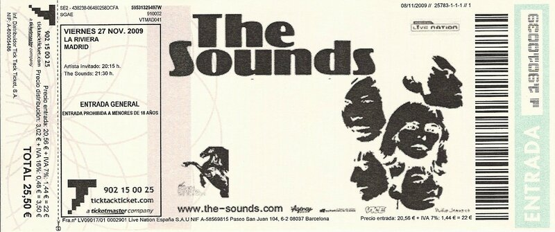 2009 11 The Sounds Billet