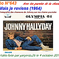 Mais je reviens - johnny hallyday (partition sheet music)