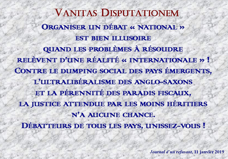vanitas disputationem