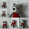 Peluche Chat Peron Rouge au crochet