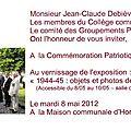 Commémoration du 8-05-2012 à boussu-hornu