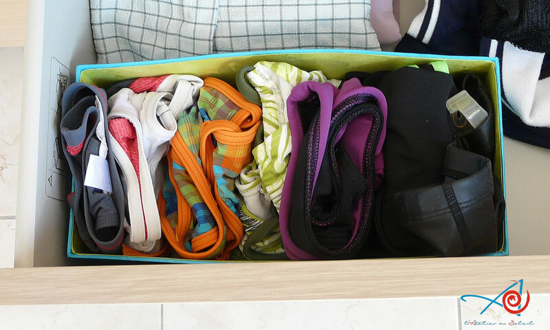 Boîte à maillots dans tiroir L'Atelier au soleil