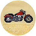 Cadeau : bavoir moto