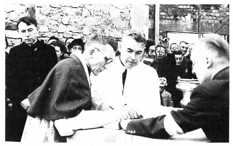 Photo 1953 Signature Mgr Béjot Journal de ND du Haut n°76 Mars p32 R2