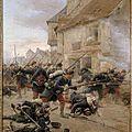 Grolleron, contre-attaque d'infanterie dans un village, 1870