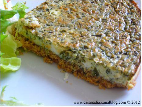 Cheese Cake salé au Sésame et aux Herbes