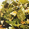 Salade de pommes de terre, amandes et roquette