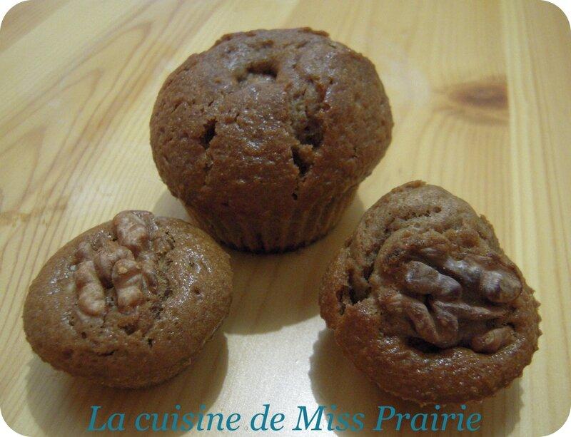 Muffins pralinoise-noix